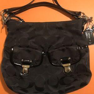 Coach black crossbody handbag